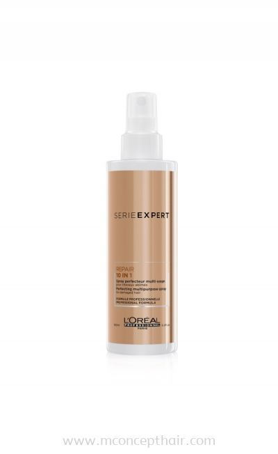 L'Oreal Professionnel Serie Expert Absolut Repair 10 In 1 Multi-Benefit Leave In Blow Dry Spray 190ml (For Dry And Damaged Hair)
