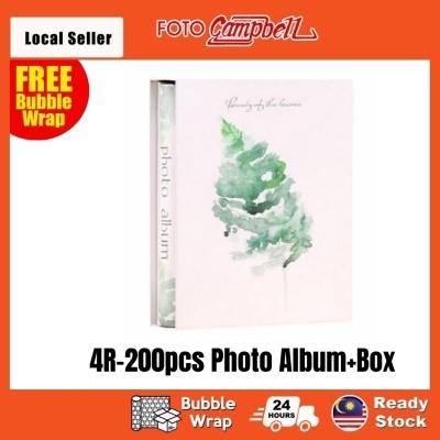4R Album 200pcs + Box(Ready Stock)--- leather fern