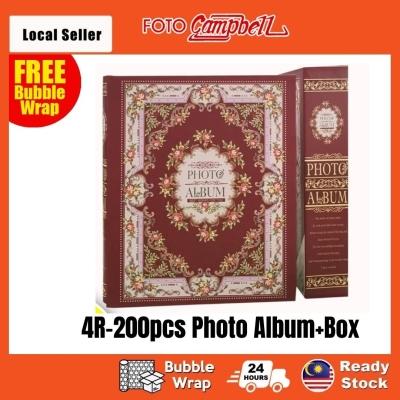 4R Album 200pcs + Box(Ready Stock)--- batik red