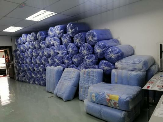 Cheap mattress tilam supplier penang mainland manufacturer for hostel and foreign workers accomandation 4inches Single blanket and pillow