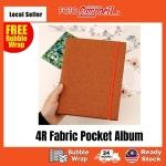 4R-100/200pcs pocket Photo Album(fabric cover)Ready Stock--- premium brown