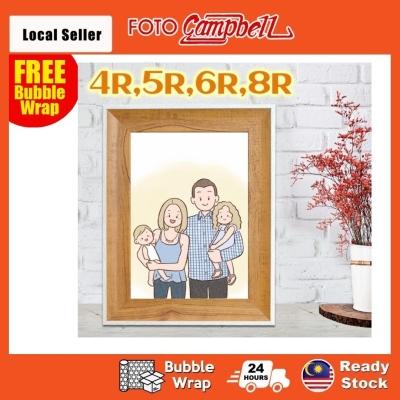 4R 5R 6R 8R Photo Frame Wooden Design(Ready Stock)