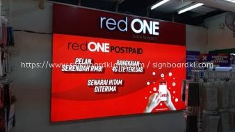red one fabric lightbox signage signboard at klang kuala lumpur puchong