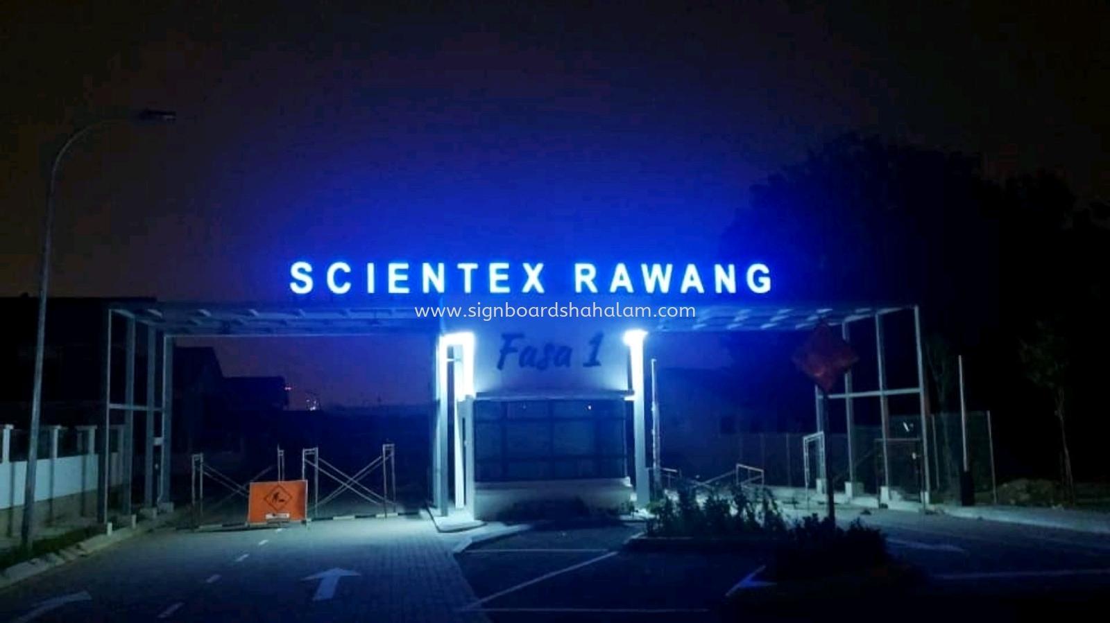 Signboard Scientex Rawang, Papan Iklan 3D Led, Night View