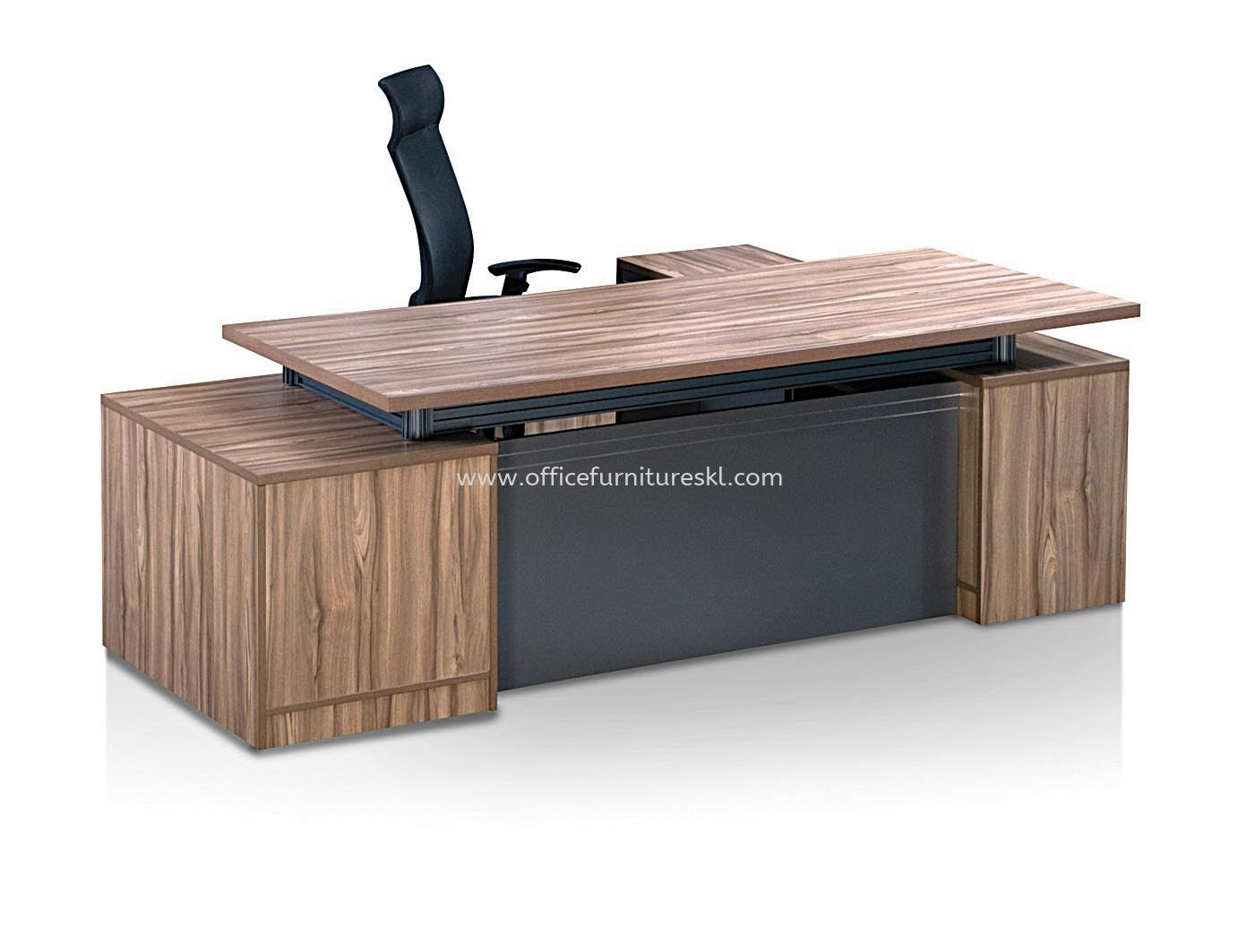 ZARAMO EXECUTIVE DIRECTOR OFFICE TABLE WITH SIDE OFFICE CABINET - Office Furniture Manufacturer Director Office Table | Director Office Table Brickfield | Director Office Table Damansara Jaya | Director Office Table Uptown PJ