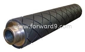 Rubber Roller Coating with Diamond Groove Rubber  Polymer ( PU / Rubber etc )