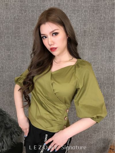 25947 Puff Sleeved Top