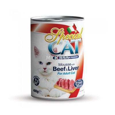 SPECIAL CAT MOUSSE 400G -BEEF & LIVER
