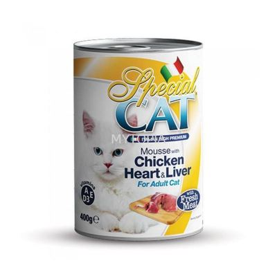 SPECIAL CAT MOUSSE 400G -CHICKEN HEART & LIVER