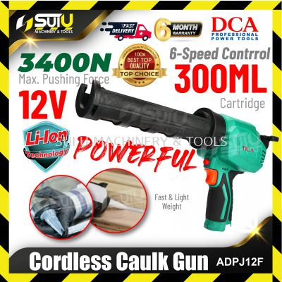 DCA ADPJ12F 12V 6-speed Cordless Caulk Gun 300ML 3400N (SOLO - Withou Battery & Charger)