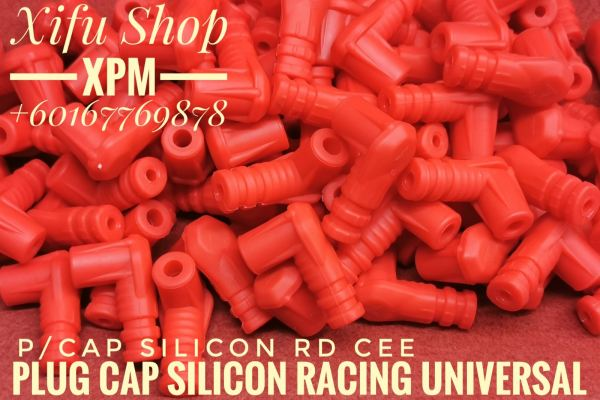 PLUG CAP SILICON RACING UNIVERSAL RED P/CAP SLC RD IEE