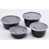 Black round container Round container Food container
