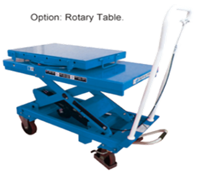 1 ton GEOLIFT Manual Lift Table with Rotary Table-LT100-R (Germany Hydraulic Pump System)