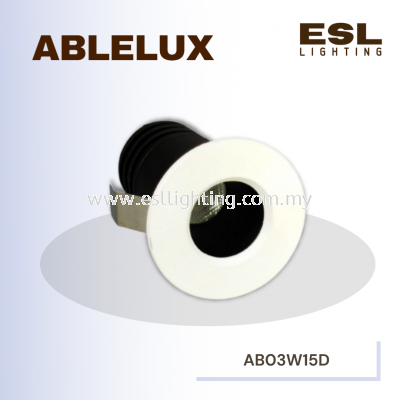 ABLELUX 3W RECESSED LED DOWNLIGHT 270 LUMEN 15D ISOLATED DRIVER