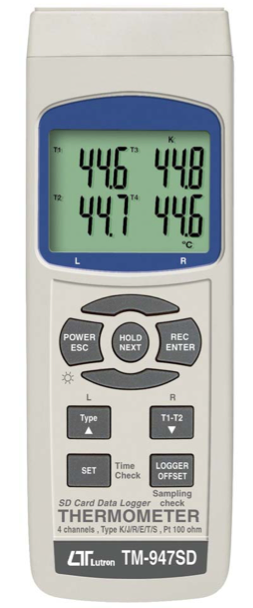 LUTRON TM-947SD 4 channels THERMOMETER + SD Card real time data recorder