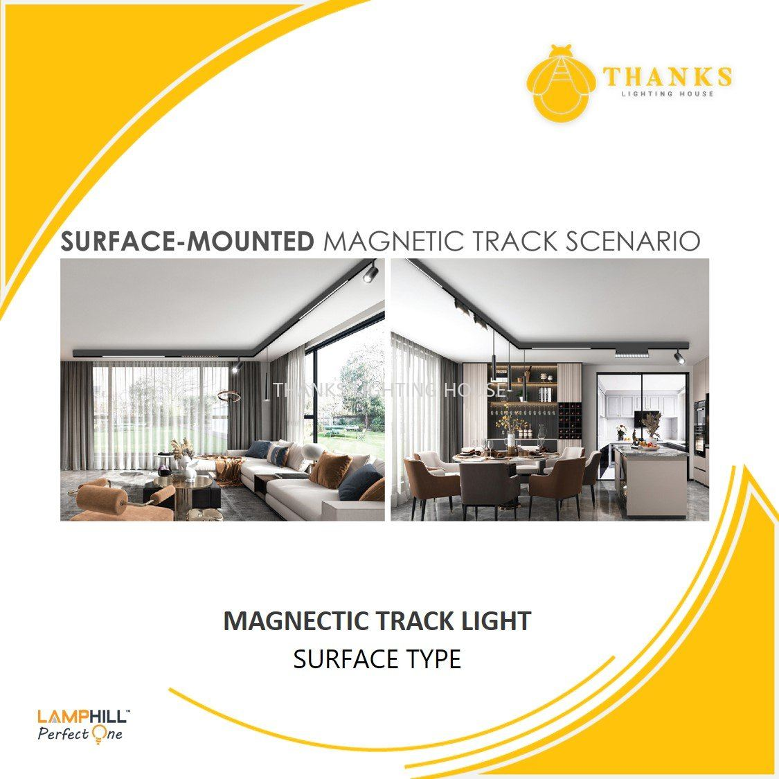 LED Magnetic Track Lights - Surface Type