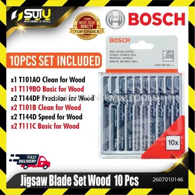 BOSCH 2607010146 10pcs Jigsaw Blade Set for Wood