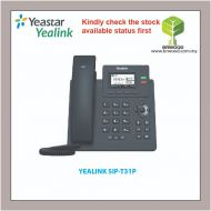 YEALINK SIP-T31P: ENTRY LEVEL IP PHONE WITH 2 LINES & HD VOICE (POE)
