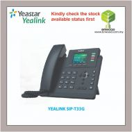 YEALINK SIP-T33G: Entry-level IP Phone with 4 Lines & Color LCD (POE)