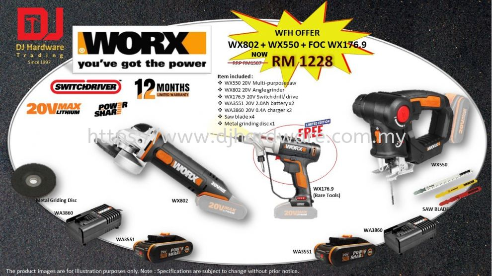 WFH OFFER WORX POWER TOOLS