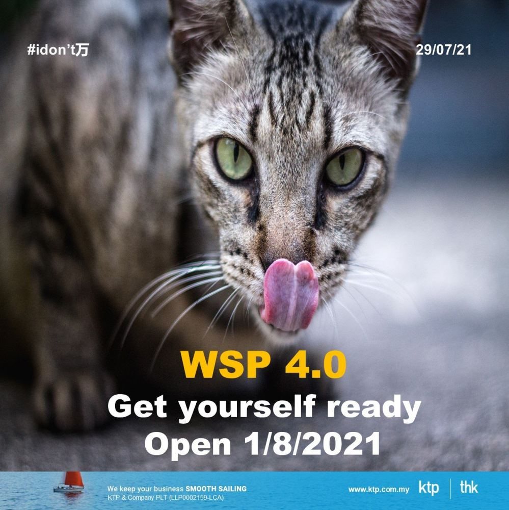 Latest update on WSP 4.0 (open by 1/8/21)