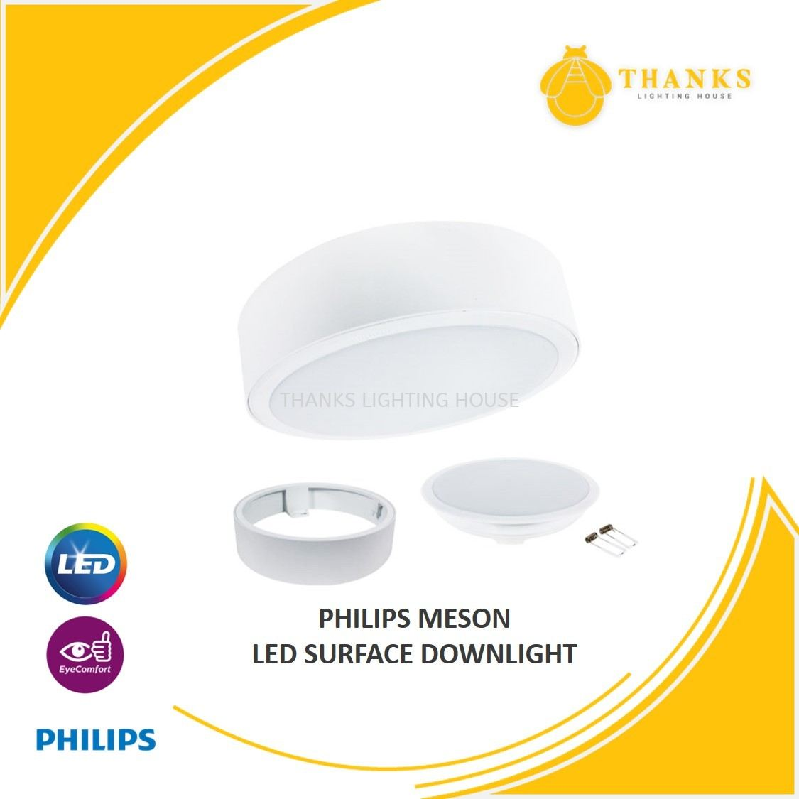 PHILIPS MESON LED SURFACE DOWNLIGHT 17W 24W