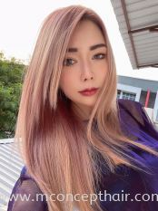 Milky Pink Hair Color