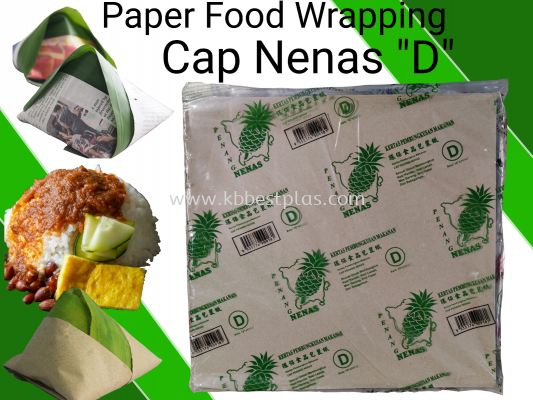 Paper Food Wrapping ''D'' 100pcs+/-