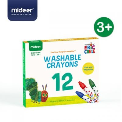 MD4107 Mideer X Eric Carle The Very Hungry Caterpillar Washable Crayons - 12 Color