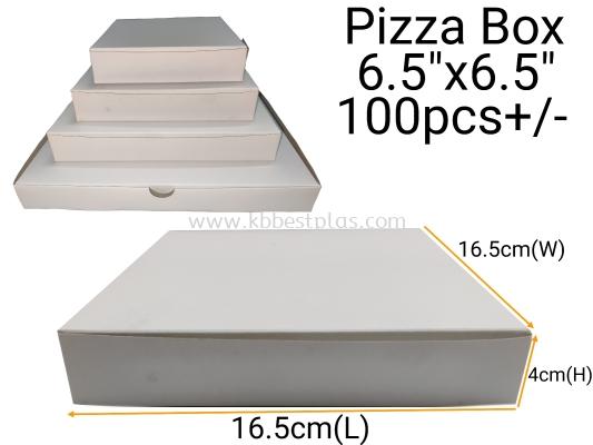 """Food Box/Pizza Box 6.5""""x6.5"""" 100pcs+/-"""