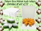 """Talam Box/Kotak kuih talam 8""""x8""""x2.5"""" 100pcs+/- Lunch Box Paper Products"""