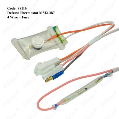 Code: 88116 Defrost Thermostat MM2-287 4 Wire + Fuse