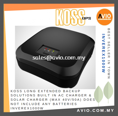 KOSS Long Extended Backup Solutions Built in AC Charger & Solar Charger 600W Max 40V/50A no include Battery Inverex1000W