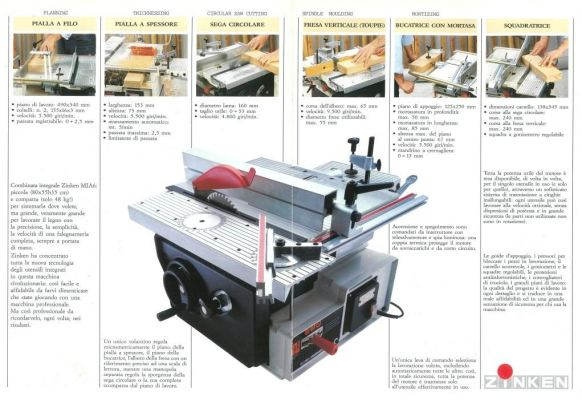 ZINKEN COMBINED WOOD-WORKING MACHINE C/W SPINDLE PROTECTION (160MM)