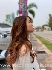 Brown & Rose Gold Hair Color