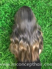 Multicolored Grey & Blond Ombre Hair Color