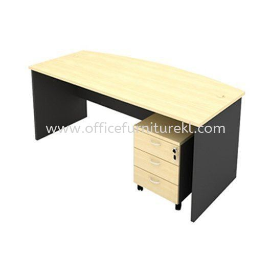 6' EXECUTIVE OFFICE TABLE D SHAPE C/W MOBILE PEDESTAL 3D AGMB180 (Color Maple) - executive office table Bukit Damansara    executive office table Titiwangsa   executive office table Taman Subang Mewah   executive office table New Year Sale