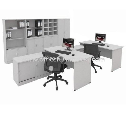 5' OFFICE TABLE   STUDY TABLE   COMPUTER TABLE C/W SIDE CABINET SET AGT 157 FO (Color Grey) - office table Pandan Jaya   office table Danau Kota   office table Taman Perindustrian Subang   office table Top 10 Best Recommended