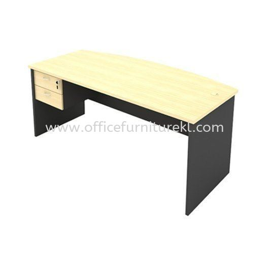 6' EXECUTIVE OFFICE TABLE D SHAPE C/W HANGING PEDESTAL 2D AGMB180 (Color Maple) - executive office table Uep Subang Jaya    executive office table Empire City   executive office table Kawasan Perindustrian Temasya   executive office table Mid Year Sale