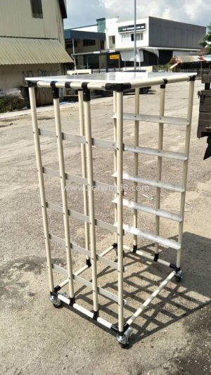 ABS Pipe & Joint Racking Trolley complete with PP Sheet & Aluminium Angel Bar