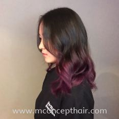 Pink Purple Ombre Hair Color