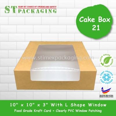 "Cake Box 10""x10""x3"" with L Shape Window @ RM4.10/pc x��15pcs��="