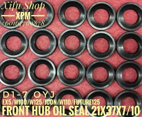 FRONT HUB OIL SEAL 21X37X7/10 EX5, W100, W125, ICON, W110, FUTURE 125 D1-7 LNE