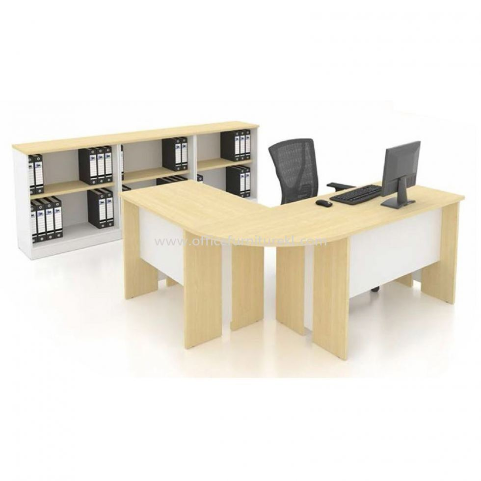 FAMAH 4' OFFICE TABLE   STUDY TABLE   COMPUTER TABLE COMBINE OFFICE TABLE FAMAH 127 (Color Maple) - office table Chan Sow Lin   office table Bangsar South   office table Taman Perindustrian Usj 1   office table Top 10 Best Recommend