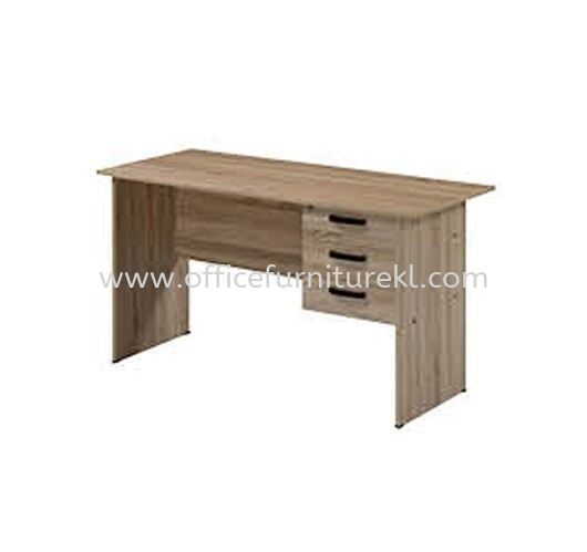 4' OFFICE TABLE   STUDY TABLE   COMPUTER TABLE C/W HANGING PEDESTAL 3D AMP1 1270 (Color Solama Oak) - office table Accentra Glenmarie   office table Kwasa Damansara   office table Taman Oug   office table Ready Stock