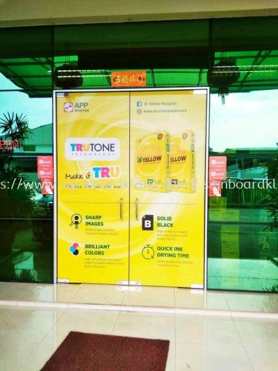 glass door stationary shop glass sticker signage signboard at klang kuala lumpur shah alam puchong