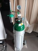 Saemless 10L Aluminium Oxygen Tank  include Trolley with Reguator and Inhaler set l