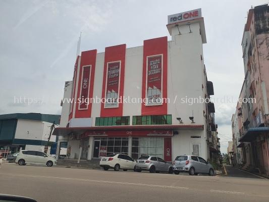 red one shop glass window sticker printing signage signboard at klang kuala lumpur shah alam puchong