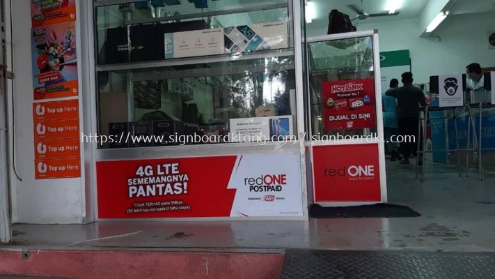 red one shoplot wallpaper sticker printing singage signboard at klang kuala lumpur shah alam puchong
