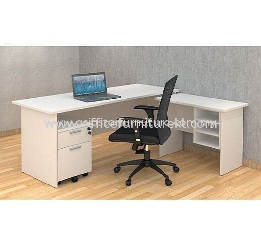 5' OFFICE TABLE   COMPUTER TABLE   STUDY TABLE C/W SIDE TABLE & MOBILE PEDESTAL 1D1F SET AGT 157 FO (Color White) - office table Taman Subang Mewah   office table Taman Bukit Pantai   office table Jalan Kia Peng   office table Top 10 Best Selling